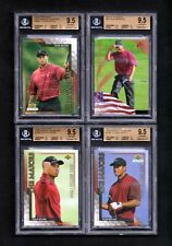 Tiger Woods 2001-04 LOT OF 10 ALL UD ALL  BGS Gem Mint 9.5 with Alot of 10's  AB