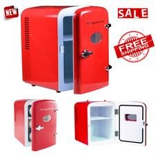 Fridge Mini Portable Frigidaire Retro Refrigerator 6 Can Cooler Shelves Compact