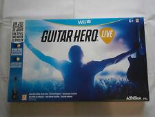 GUITAR HERO LIVE NINTENDO WII U neuf guitare boite jamais ouvert