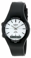 Casio AW90H-7E Men's White Index Dial Analog Digital Dual Time Zone Watch