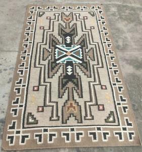 SOUTHWESTERN Wool Navajo Kilim Rug 48''x72'' ft Grey Turkish Area Rug