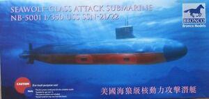 Bronco Models 1/350 USS Seawolf Class Attack Submarine SSN-21/22