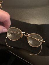 Vintage Antique Golled Filled Wire Rim Eye Glasses Estate Find