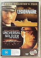 Legionnaire + Universal Soldier The Return (DVD SET) Van Damme Movie