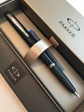 PARKER REFLEX BLACK CT MEDIUM NIB FOUNTAIN PEN-GIFT BOX-NEW OLD STOCK