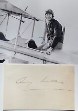Amy Johnson Mollison Promient Record Setting Aviation Pioneer Autograph ''Rare''