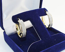9CT HALLMARKED POLISHED YELLOW GOLD STARSHINE 22MM X 17MM OVAL HOOP EARRINGS