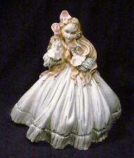 "Capodimonte Italy Rare Tiziano Galli 11"" Porcelain Lady Holding Bird Figurine"