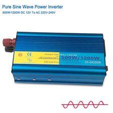 1200W / 500 Watt 12V 230V Reiner Sinus Wechselrichter Spannungswandler Inverter