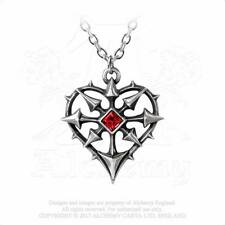 Alchemy Entropassio Pendant/Necklace P787 gothic/Swarovski/heart/crystal/thorns