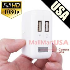 USB Wall Charger Hidden Spy Camera 1080P HD Mini DVR Recorder Motion Detection