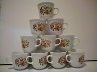 CORELLE INDIAN SUMMER COFFEE/TEA CUP, CORNING PYREX LOT OF 10, VINTAGE