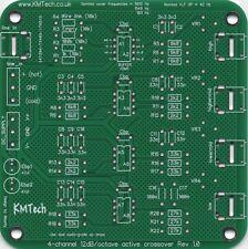 Filtro Activo! nuevo! Mono 4-way PCB hágalo usted mismo equilibrado/entrada no balanceada 12dB/octava.