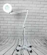 FoxHunter Standing Magnifier Lamp – Eyelash Lamp Salon Surgery Beauty - White