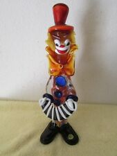 "Vintage Murano Italian Glass Musician Clown With Accordian 12 5/8"" BX-AD"