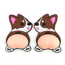 2pcs Silicone 3D Car Door Stickers Cute Butt Body Anti-collision Protection