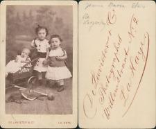 De Lavieter, La Haye, Jeanne, Marie, et Alain de Kergolan CDV vintage albumen
