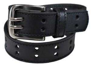Boy's 100% Genuine Leather Belt w/ Polished Nickel Finished Belt Buckle B7003