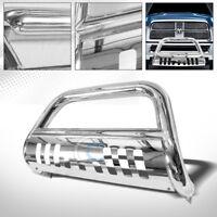Fits 09-18 Dodge Ram 1500 Chrome Bull Bar Brush Push Bumper Grill Grille Guard