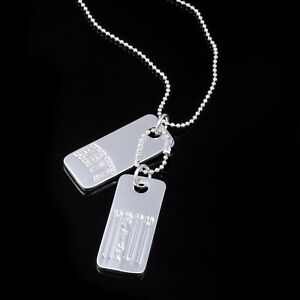 HRVY Stamped Dog Tags Necklace