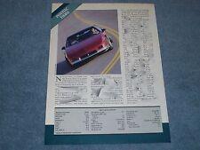 1987 Pontiac Fiero Vintage Info and Specs Article