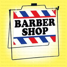 Barber Shop Metal A Frame Sign Sidewalk Pavement Sign Wb