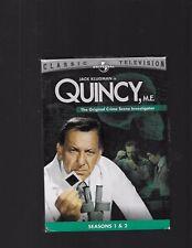 Quincy, M.E. - Seasons 1 and 2 DVD 2005, 3-Disc Set Jack Klugman