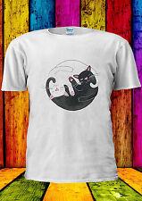 Cute Cats Ying Yang Tai-Chi Balance T-shirt Vest Tank Top Men Women Unisex 1743