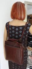 Geniale IDEE: LEDER -Schultertasche als Rucksack tragbar 1715-schwarz Vollrind