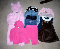 LOT OF 10 MIXED ITEMS GIRLS SIZE 6-12 MONTHS