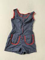 Vintage Homemade Romper Party Suit Medium