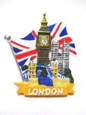 Londra Magnete Union Jack Big Ben Torre Poli Souvenir Gran Bretagna, Nuovo