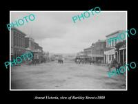 OLD LARGE HISTORIC PHOTO OF ARARAT VICTORIA, VIEW OF BARKLEY STREET c1880 1