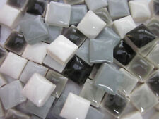 "450pcs Micro Mosaic Tiles Grey mixture 3/8"" stock in US"