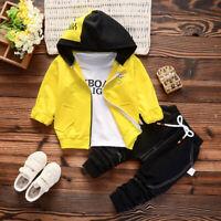 Kleinkind Jungen Outfit Kleidung Infant Boy Herbst einfachen Mantel + Top + Hose