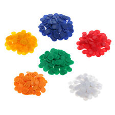 600Pieces 23mm Barreled Bingo Game Poker Chips Game Currency Tokens Count