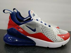 """Men's Nike Air Max 270 """"USA"""" Shoes Red White Blue CW5581-100 Size 10.5"""