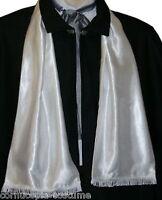 Mens Victorian / Edwardian costume /fancy dress white satin opera scarf