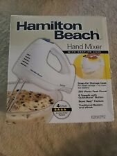 Hamilton Beach 6Speed Electric Hand Mixer w/SnapOn Storage Case, Beaters & Whisk