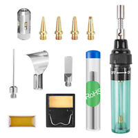 12 in 1 Cordless Torch Soldering Kit Butane Gas Electric Welding Pen Tool MT-100