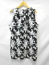 BNWT Izabel London Black & White Floral Cotton Summer Dress, Size 18 (R2/A3-C)