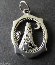 A lucky WOLF CHARM .925 STERLING SILVER native american by Peter Stone