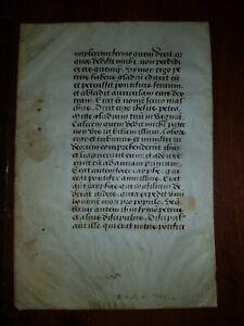 15th. Century:Handschrift auf Pergament Book of Hours leaf Manuscript on vellum!