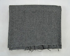 "Vtg Charcoal Black Striped Wool Felt Weave Sewing Fabric 2 x 3 Yards 61"" x 109"""
