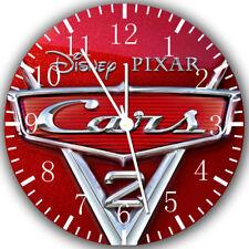 Disney Cars Frameless Borderless Wall Clock Nice For Gifts or Decor Z79