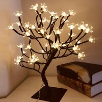 Led Cherry Blossom Tree Floral Lights Stand Lamp Table Night Light Party Decor