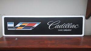 "Cadillac V logo Aluminum Sign  6"" x 24"""