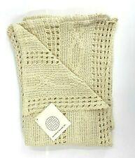 "Kennebunk Weavers Inc. Woven throw Blanket Natural Yarn 68"" x 45"" NEW"