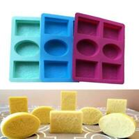 6-Cavity Silicone Soap Molds Soap Baking Cake Mold Soap_NEW For DIY H8G8