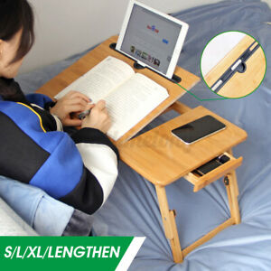 Laptop Notebook Table Adjustable Stand Foldable Portable Bed Tray Computer Desk